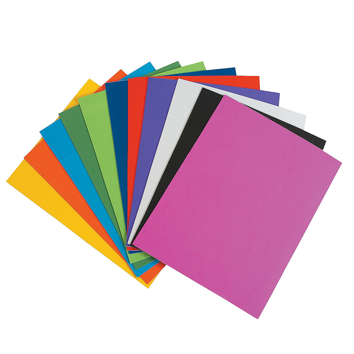 Rainbow self adhesive foam sheets oriental trading for Best glue for craft foam