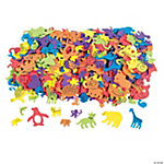 500 Fabulous Foam Self-Adhesive Animal Shapes