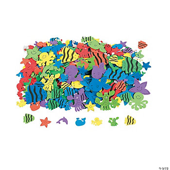500 Under The Sea Foam Self-Adhesive Shapes