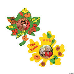 Fabulous Foam Fall Leaf Frames