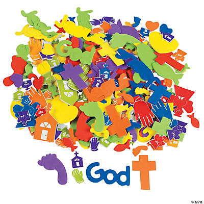 500 Fabulous Foam Self-Adhesive Faith Shapes