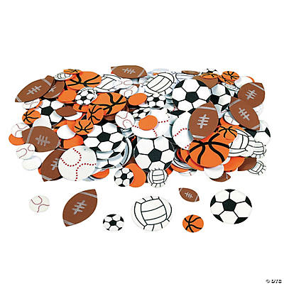 500 Fabulous Foam Self-Adhesive Sport Ball Shapes