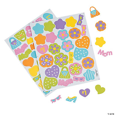 Marvelous Mom Self-Adhesive Foam Shapes