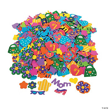 500 Marvelous Mom Self-Adhesive Foam Shapes