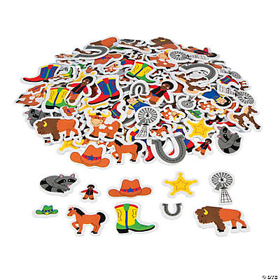 500 Wild West! Self-Adhesive Foam Shapes