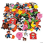500 Fabulous Foam Self-Adhesive Farm Shapes