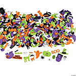 500 Happy Halloween Fabulous Foam Self-Adhesive Shapes