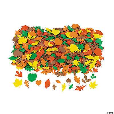 Fabulous Foam Self-Adhesive Fall Leaf Shapes