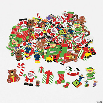 Fabulous Foam Self-Adhesive Santa's Workshop Shapes