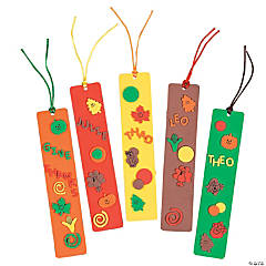 Fabulous Foam Fall Bookmarks