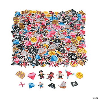 500 Fabulous Foam Self-Adhesive Pirate Shapes