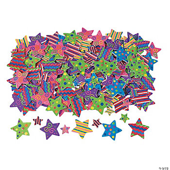500 Fabulous Foam Self-Adhesive Star Shapes