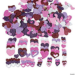 Fabulous Foam Self-Adhesive Glitter Hearts