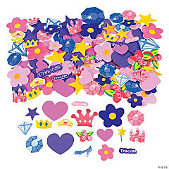500 Fabulous Foam Self-Adhesive Princess Shapes