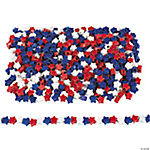1 Lb. Of Star-Shaped Patriotic Pony Beads