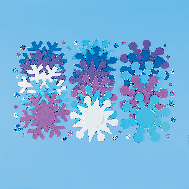 Small Foam Snowflakes Fabulous Foam Snowflake Frames