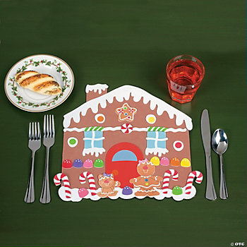 DIY Foam Gingerbread House Place Mats