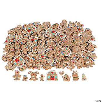 500 Fabulous Foam Self-Adhesive Gingerbread Shapes