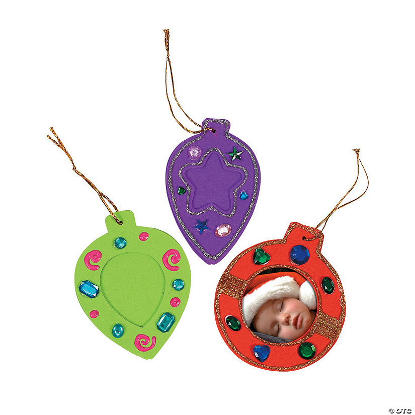 Fantastic Foam Picture Frame Ornaments - Discontinued