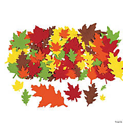 Felt Bright Fall Leaves