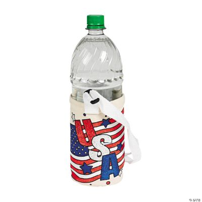 Color Your Own Canvas Patriotic Water Bottle Holders