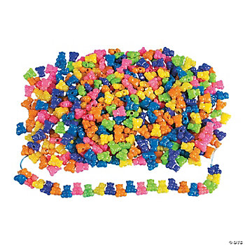 1 Lb. Of Teddy Bear Pony Beads