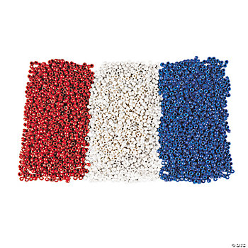 Red, White And Blue Pony Bead Kit