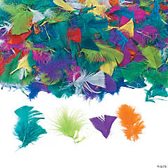 3-Oz. Giant Bag Of Bright Turkey Feathers