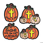 Color Your Own Christian Pumpkin Fuzzy Magnets