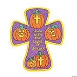 Color Your Own Christian Pumpkin Crosses