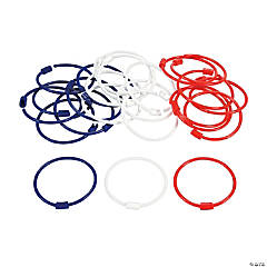Red, White & Blue Pony Bead Bracelets