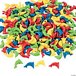 Plastic Dolphin Shaped Pony Beads
