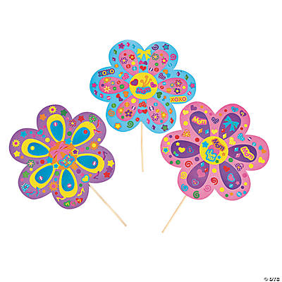 DIY Giant Mom's Flower-Shaped Sticker Scenes