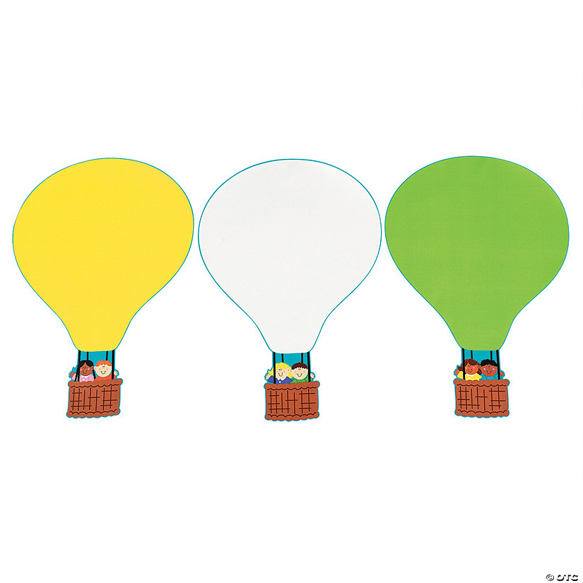 Diy giant hot air balloon sticker scenes