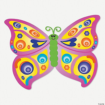 DIY Giant Butterfly-Shaped Sticker Scenes