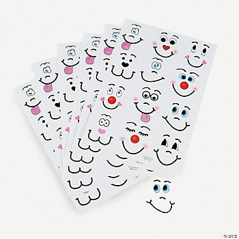 390 Make Your Own! Funny Face Stickers