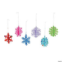 DIY Snowflake 3D Ornaments