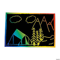 Magic Color Scratch Postcards