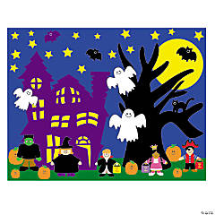 DIY Halloween Sticker Scenes