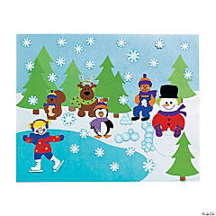 DIY Winter Sticker Scenes