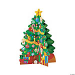 Cardboard 3D Christmas Trees And Stickers