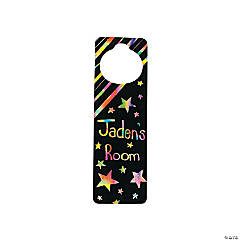 12 Magic Color Scratch Doorknob Hangers