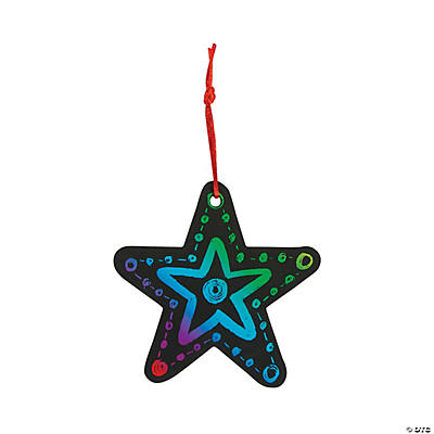 Magic Color Scratch Star Christmas Ornaments
