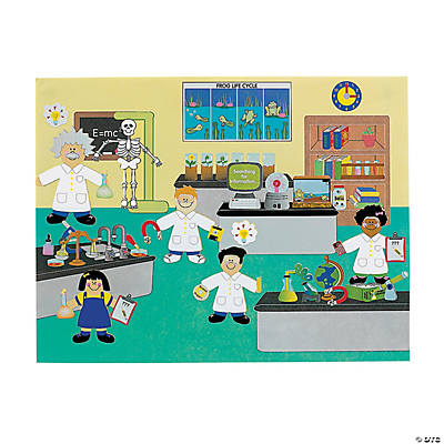 12 DIY Super Science! Lab Sticker Scenes