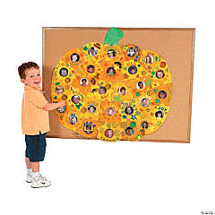 DIY Giant Pumpkin Photo Bulletin Board Puzzle