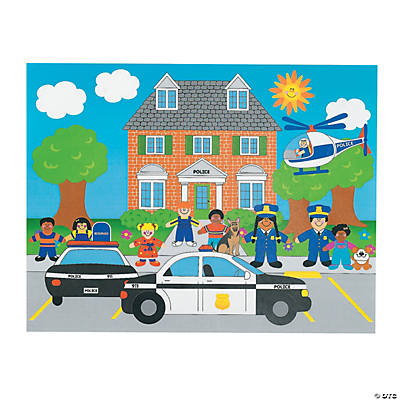 12 DIY Police Sticker Scenes