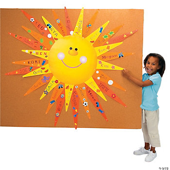 DIY Bulletin Board Sun