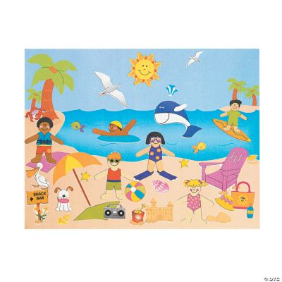 Day At the Beach Sticker Scenes