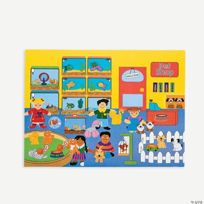 12 Design Your Own! Pet Shop Sticker Scenes