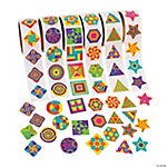 Funky Geometric Shapes Rolls of Stickers